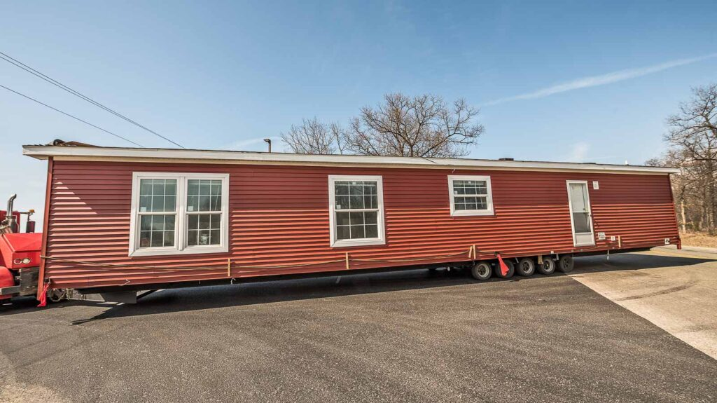 red portable house