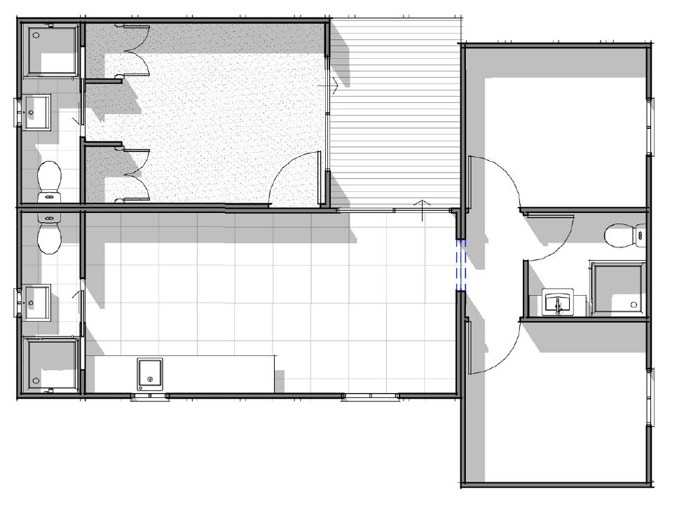 Yaba Homes Deluxe 2 bedroom, 3 bathroom with kitchen, living & deck