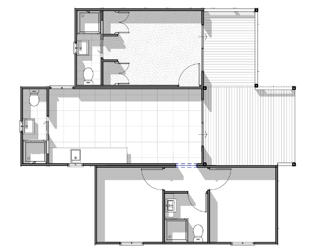Yaba Homes Deluxe 2 bedroom, 2 bathroom with kitchen, living & deck