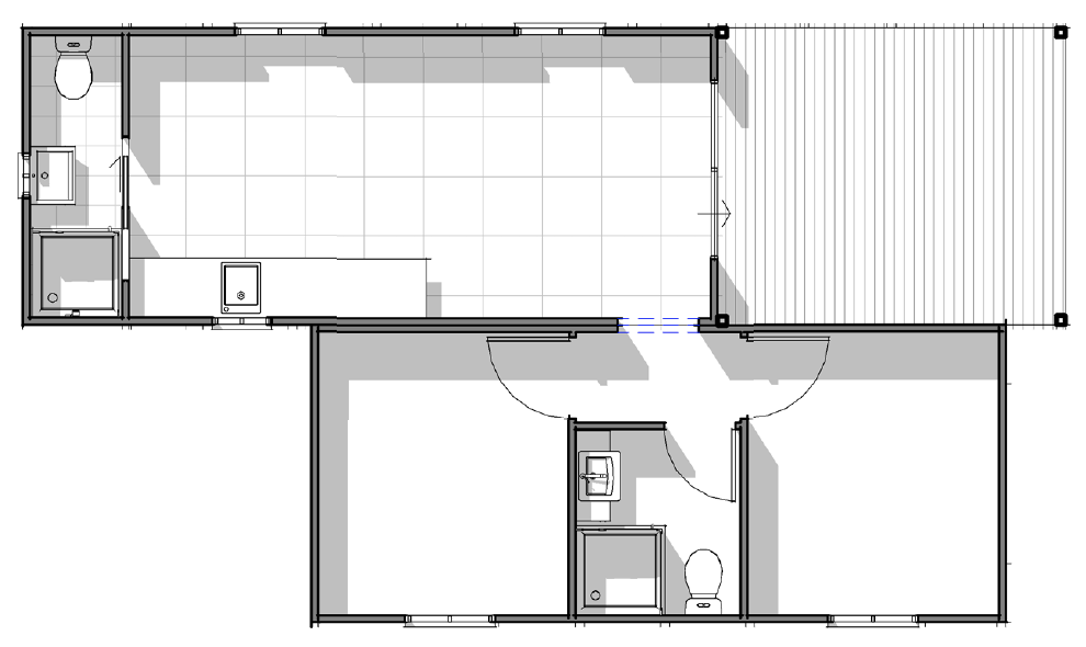 Yaba Homes Deluxe 2 bedroom with kitchen, living, ensuite & deck