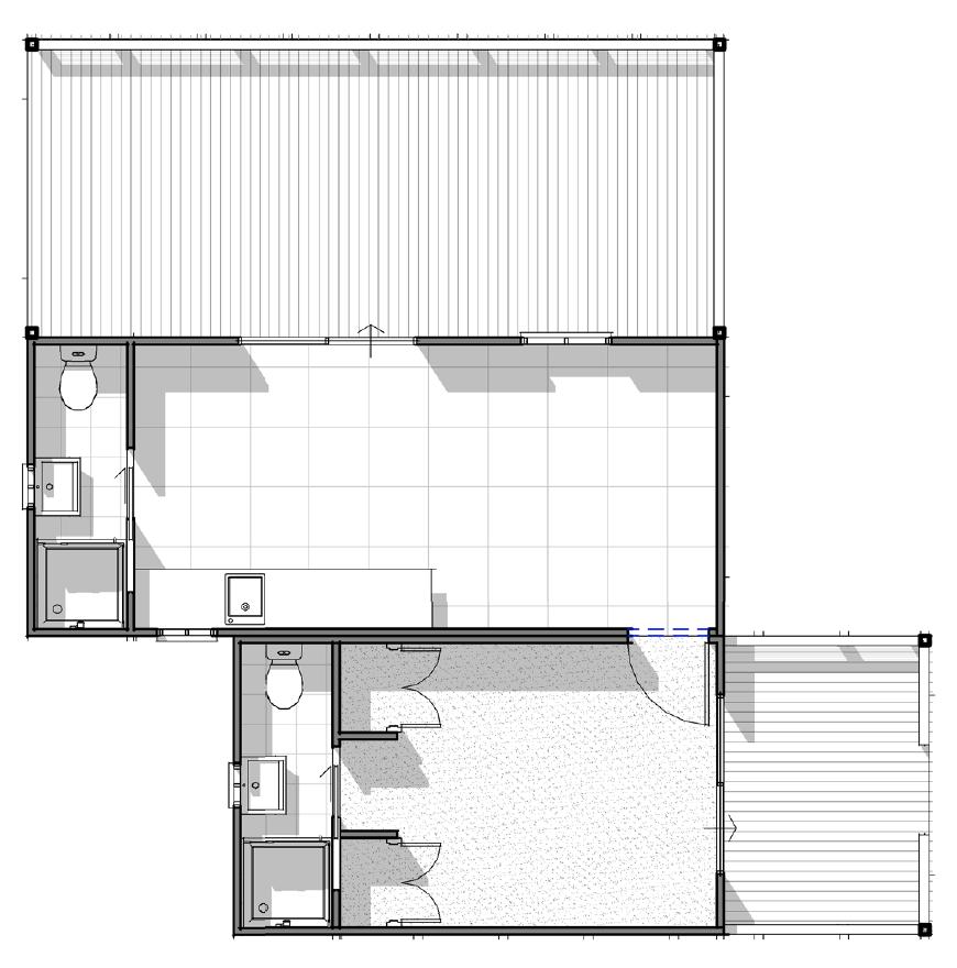 Yaba Homes Deluxe 1 bedroom ensuite with kitchen, 2nd bathroom, full deck & half deck